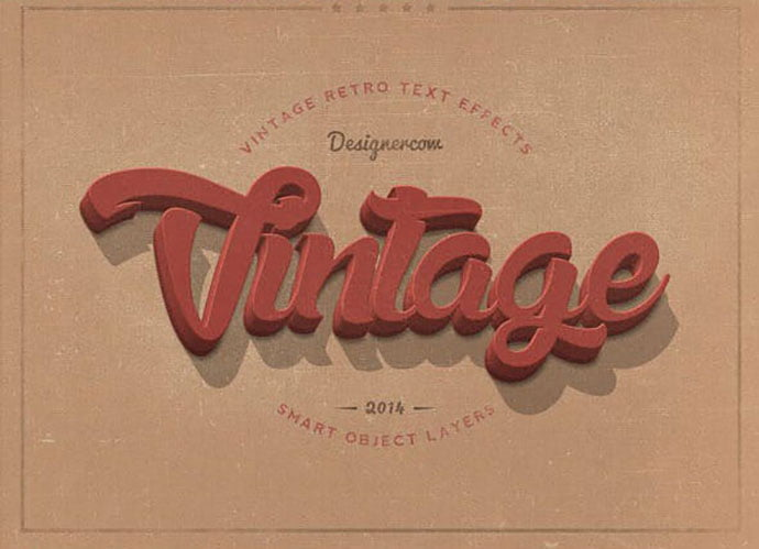 New-Vintage - 33+ Nice Retro Vintage Photoshop Text Effects [year]