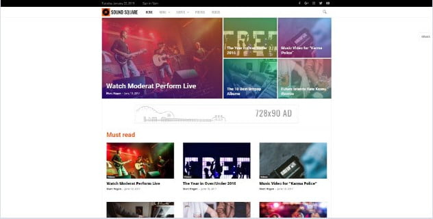 Newsmag - 33+ Awesome Music Blog Responsive WordPress Themes [year]