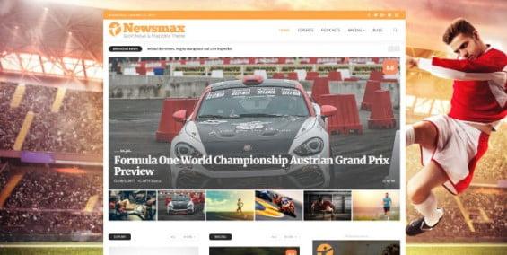 Newsmax - 42+ Amazing Sport Magazine WordPress Themes [year]