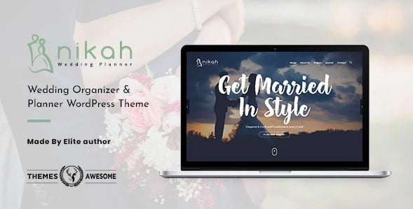 Nikah - 35+ Nice WordPress Wedding Planner Themes [year]