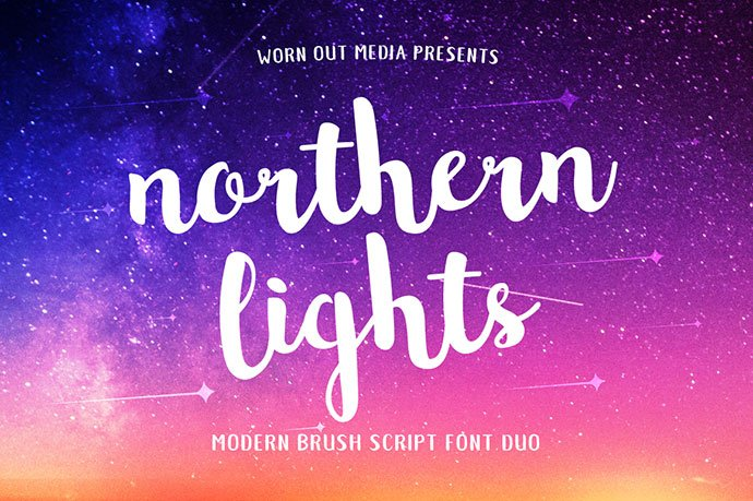 Northern-Lights - 53+ Best Free Calligraphy & Hand Lettering Fonts [year]