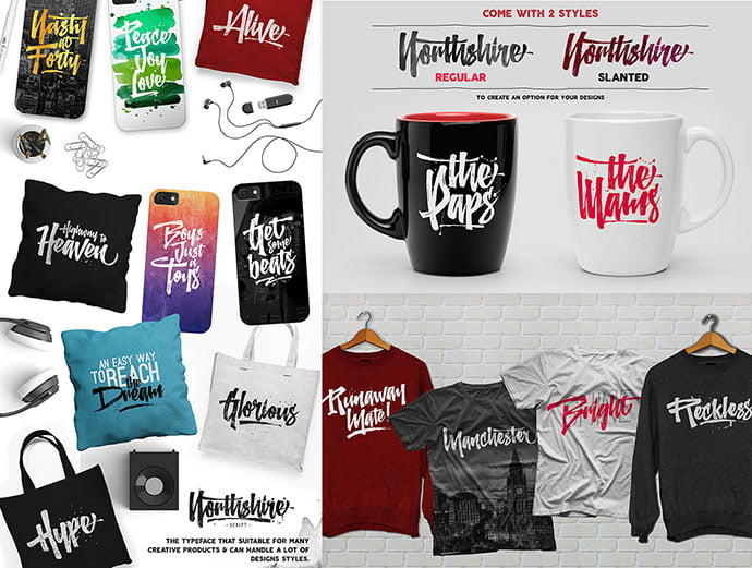 Northshire - 53+ Nice T-shirt Design Hand Lettering Fonts [year]