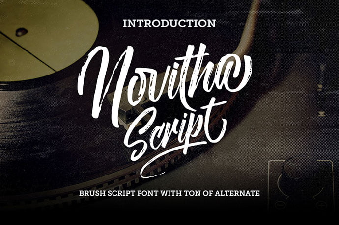 Novitha-Script - 53+ Best Free Calligraphy & Hand Lettering Fonts [year]