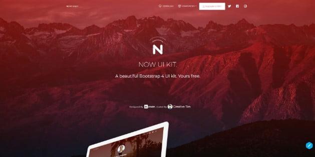Now-UI-Kit - 38+ Amazing 100% Free Bootstrap Web UI KIT [year]