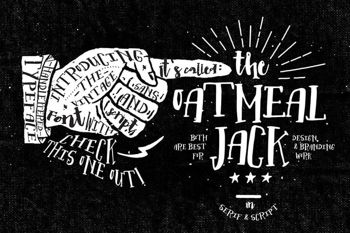 Oatmeal-Jack - 53+ Nice T-shirt Design Hand Lettering Fonts [year]