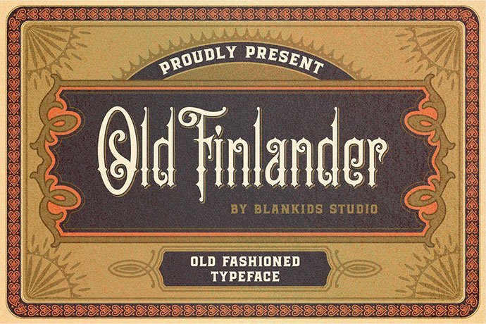 Old-Finlander - 38+ Beautiful Fonts For Graphic Design [year]