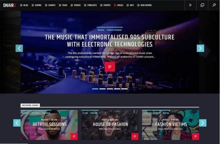 Onair2-Radio-Station - 36+ Amazing WordPress Radio Station Themes [year]