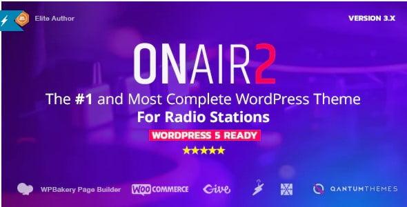 Onair2 - 36+ Amazing WordPress Radio Station Themes [year]