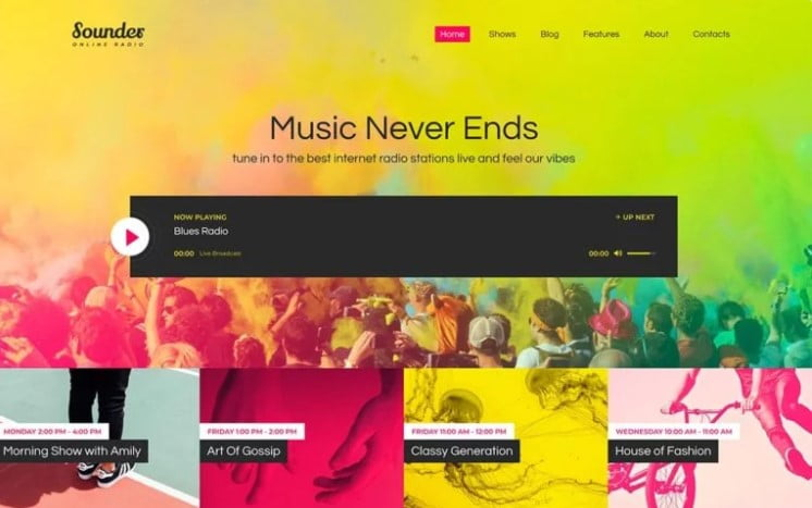 Online-Internet - 36+ Amazing WordPress Radio Station Themes [year]