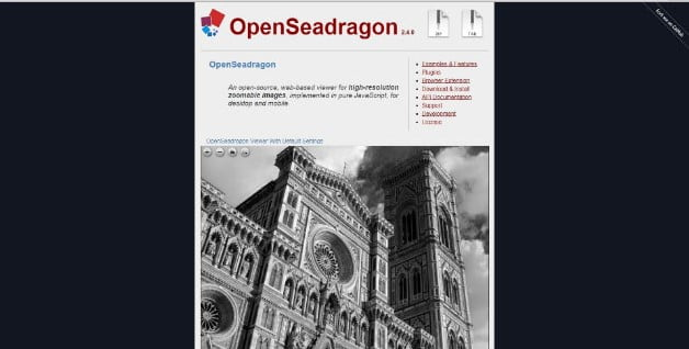OpenSeadragon - 34+ Important Web & Mobile Zoom Libraries [year]