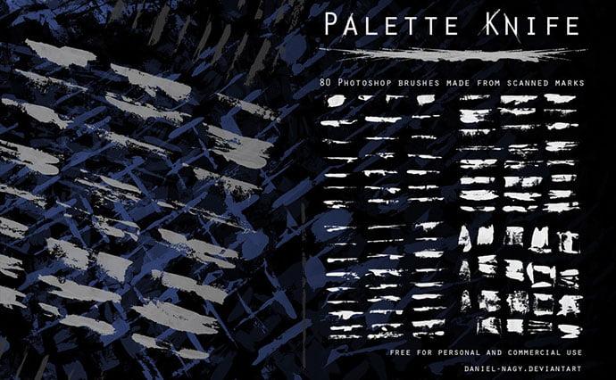 Palette-Knife - 43+ Amazing BEST Free Photoshop Brush Sets [year]