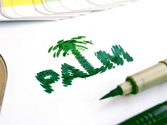 Palm - 38+ Nice 100% Free Letter Substitution Logo Designs [year]