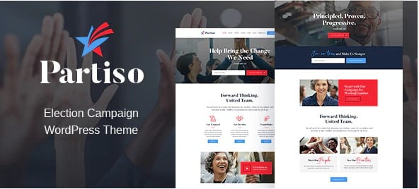 Partiso - 35+ Awesome WordPress Government Themes [year]