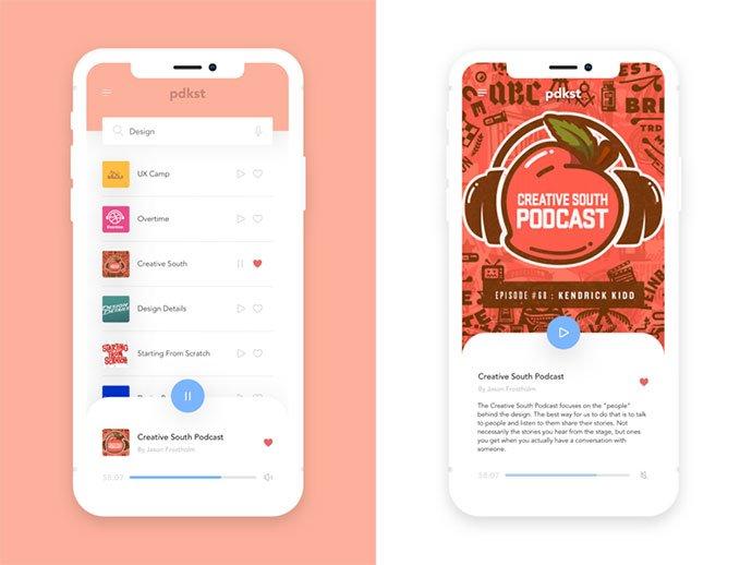 Pdkst - 63+ BEST Free PodCast Web & Mobile App UI Design IDEA [year]