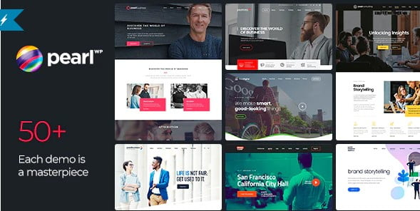 Pearl - 33+ Responsive WordPress SAAS Themes [year]
