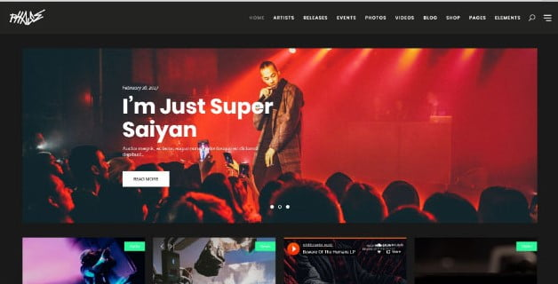 Phase - 33+ Awesome Music Blog Responsive WordPress Themes [year]