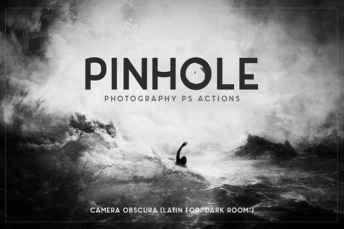 Pinhole - 34+ Awesome Black & White Photoshop Actions [year]