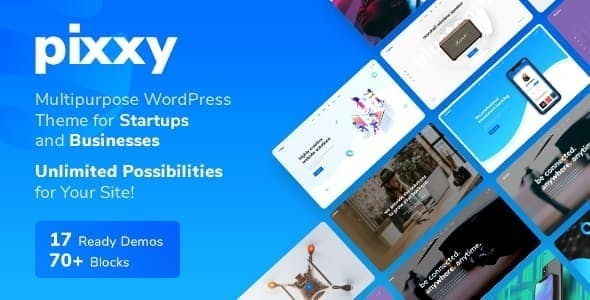 Pixxy - 33+ Responsive WordPress SAAS Themes [year]