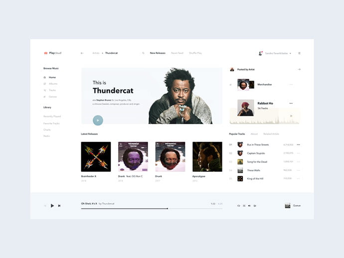 Playcloud - 63+ BEST Free PodCast Web & Mobile App UI Design IDEA [year]