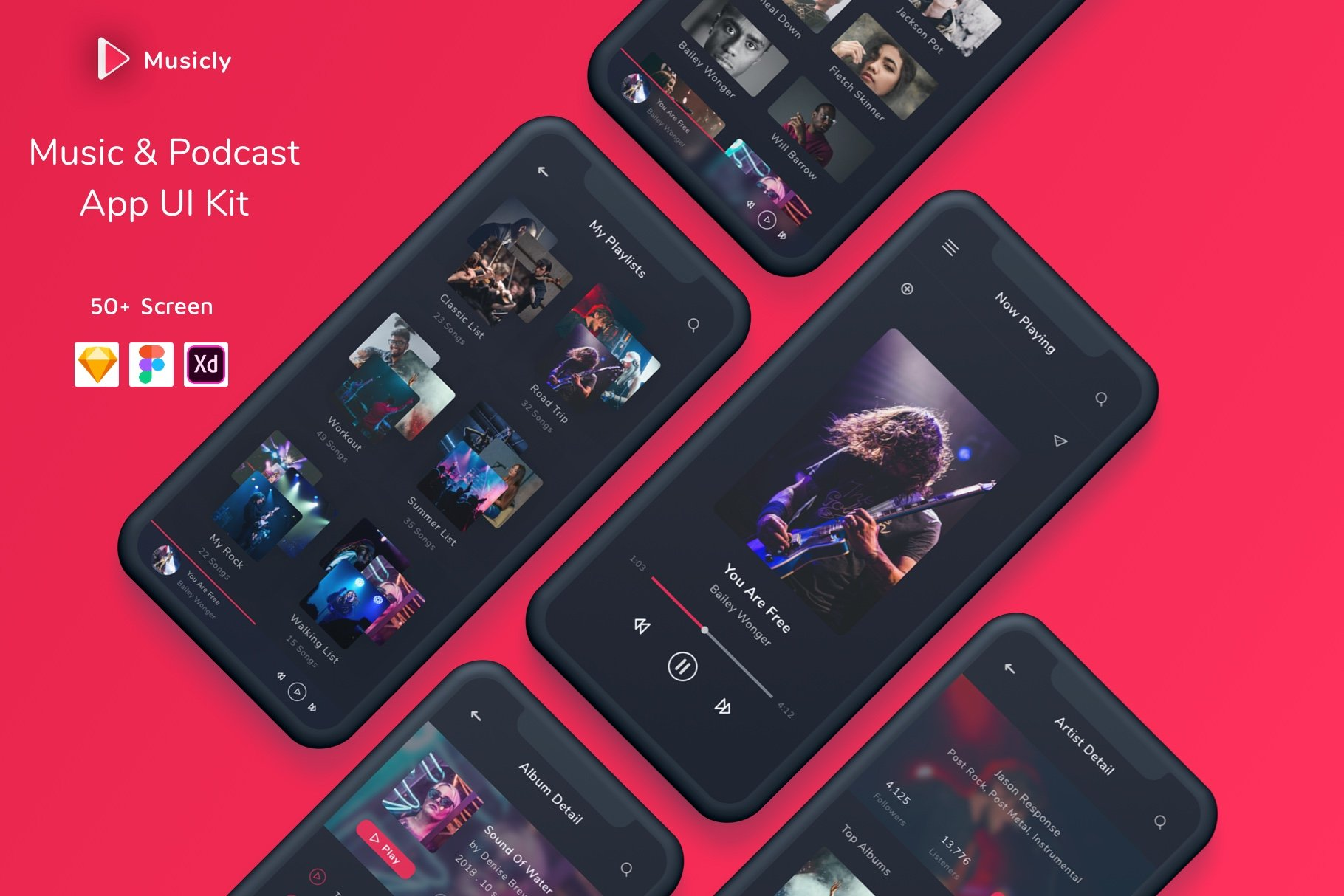 PodCast-App-UI-Design - 63+ BEST Free PodCast Web & Mobile App UI Design IDEA [year]