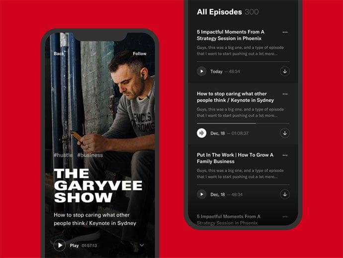 Podcast-App-2 - 63+ BEST Free PodCast Web & Mobile App UI Design IDEA [year]