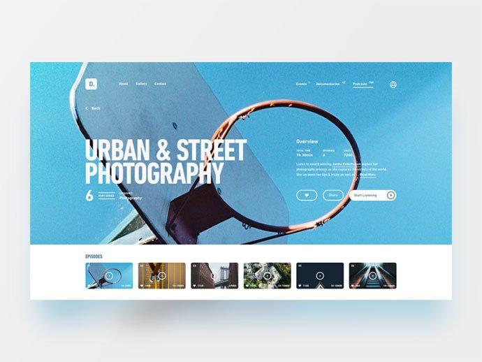 Podcast-Desktop - 63+ BEST Free PodCast Web & Mobile App UI Design IDEA [year]