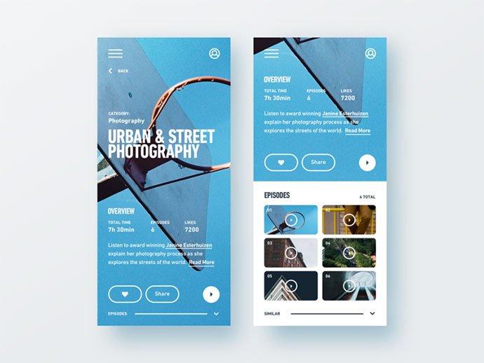 Podcast-Mobile - 63+ BEST Free PodCast Web & Mobile App UI Design IDEA [year]