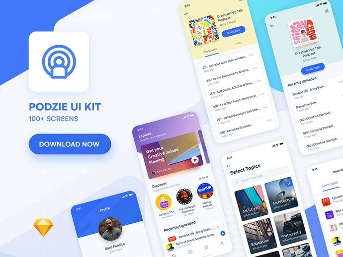 Podcast - 63+ BEST Free PodCast Web & Mobile App UI Design IDEA [year]