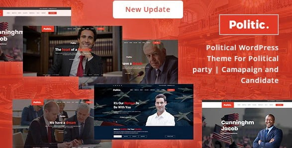 Politic - 35+ Awesome WordPress Government Themes [year]