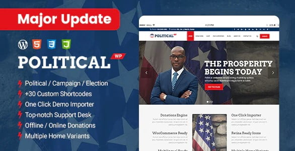 PoliticalWP - 35+ Awesome WordPress Government Themes [year]