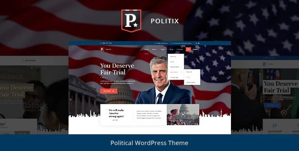 Politix - 35+ Awesome WordPress Government Themes [year]