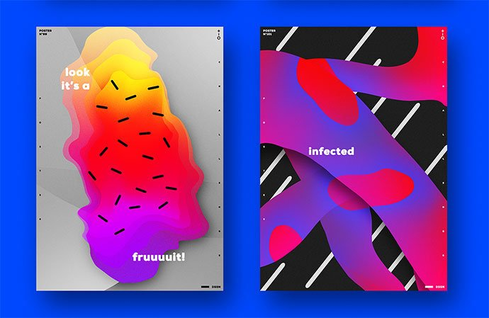 Poster-Collection - 38+ Awesome BEST Free Organic Shapes Poster Design [year]