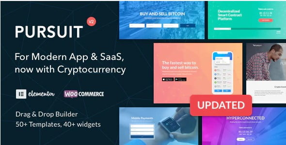 Pursuit - 33+ Responsive WordPress SAAS Themes [year]