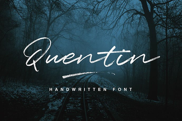 Quentin - 53+ Best Free Calligraphy & Hand Lettering Fonts [year]