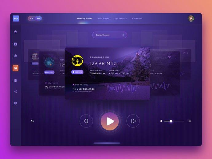 Radio-and-Multimedia - 63+ BEST Free PodCast Web & Mobile App UI Design IDEA [year]