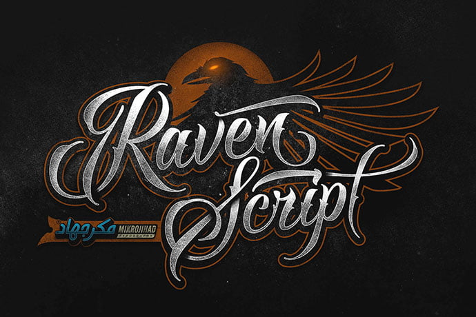 Raven - 53+ Nice T-shirt Design Hand Lettering Fonts [year]
