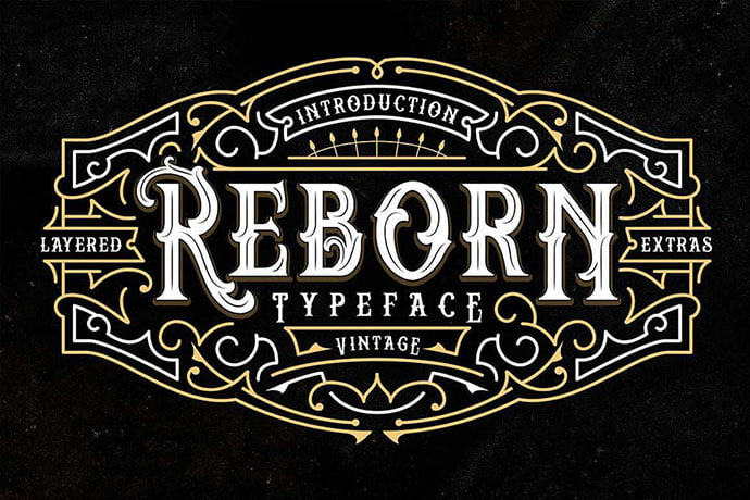 Reborn - 38+ Beautiful Fonts For Graphic Design [year]