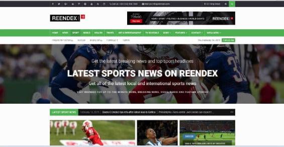 Reendex - 42+ Amazing Sport Magazine WordPress Themes [year]