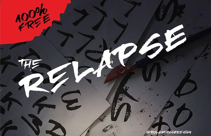 Relapse - 38+ Lovely BEST Free Graffiti Web Fonts [year]