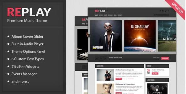 Replay-1 - 36+ Amazing WordPress Radio Station Themes [year]