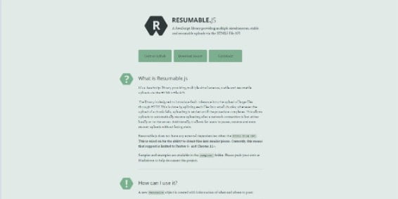 Resumable - 33+ Important BEST Free File Upload Script Libraries [year]