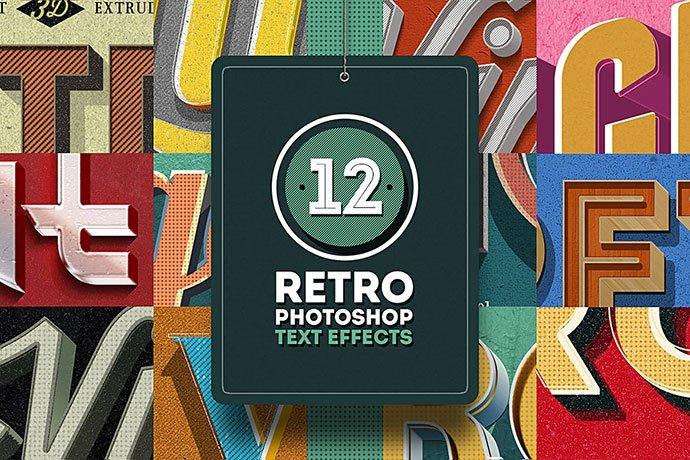 Retro-Photoshop - 33+ Nice Retro Vintage Photoshop Text Effects [year]