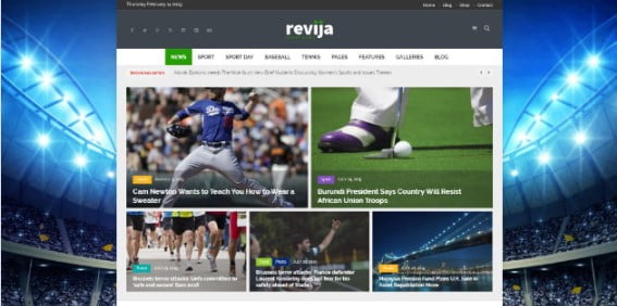 Revija - 42+ Amazing Sport Magazine WordPress Themes [year]
