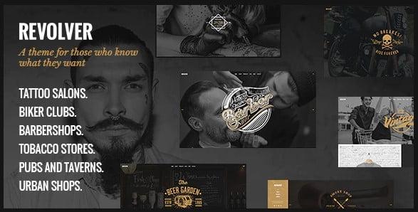 Revolver - 28+ Amazing Tattoo Artist WordPress Themes [year]