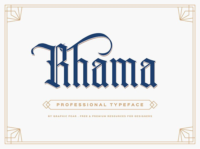 Rhama - 28+ Excellent 100% Free Blackletter Fonts [year]
