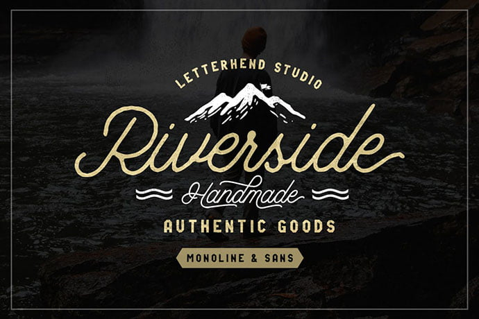 Riverside-Font-Duo - 53+ Nice T-shirt Design Hand Lettering Fonts [year]