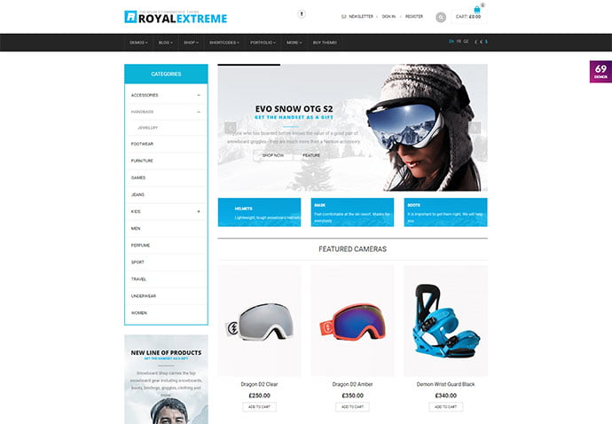 Royal - 33+ Lovely Outdoor Gear WordPress Themes [year]