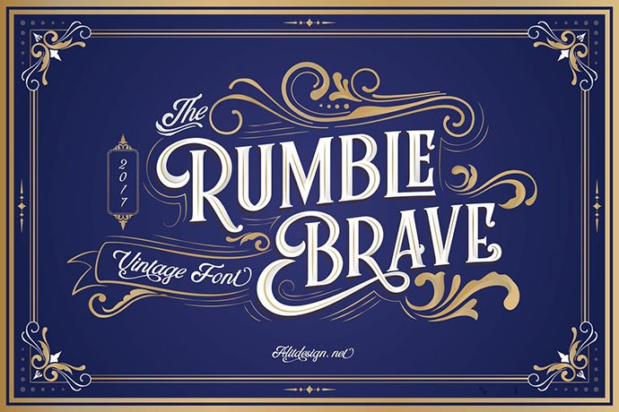 Rumble-Brave - 53+ Nice T-shirt Design Hand Lettering Fonts [year]