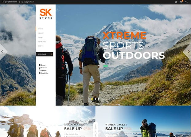 SK-Store - 33+ Lovely Outdoor Gear WordPress Themes [year]