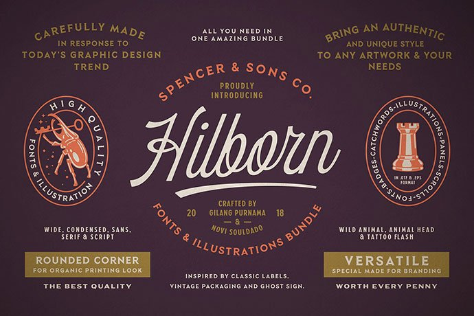 SS-Hilborn - 53+ Nice T-shirt Design Hand Lettering Fonts [year]